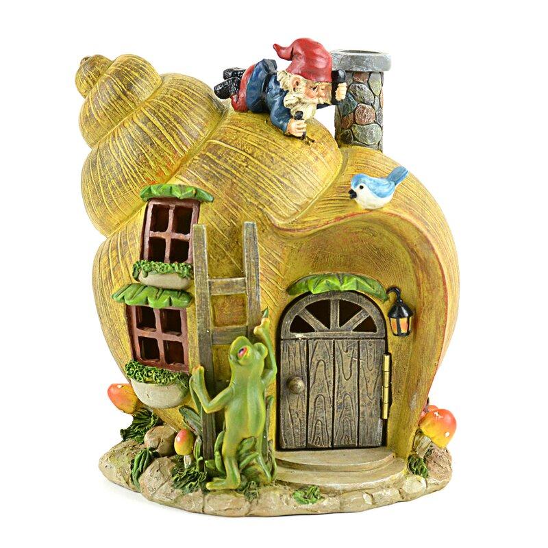 August Grove® Wardlaw Snail House Fairy Garden & Reviews ...