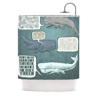 Whale Talk Single Shower Curtain
