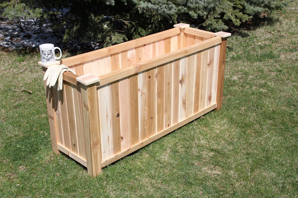 x boxes box mayne in view veranda vinyl home natural yorkshire square larger planter cedar depot l