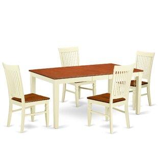 August Grove Pillar 5 Piece Extendable Breakfast Nook Dining Set