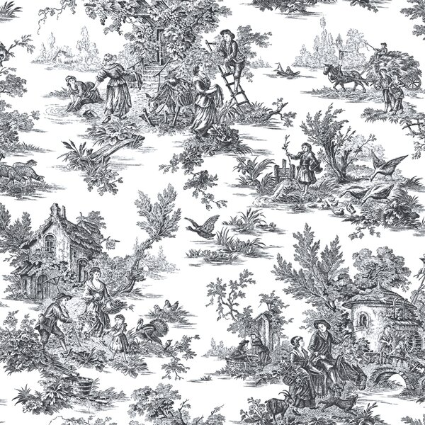 Photo SantaMarina Champagne Toile 33' L x 20.5 W Wallpaper Roll by Ophelia & Co.