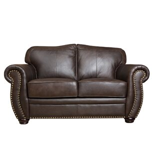 World Menagerie Hotchkiss Leather Loveseat