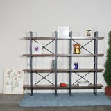 Lance 56.69'' H x 70.86'' W Metal Etagere Bookcase by 17 Stories