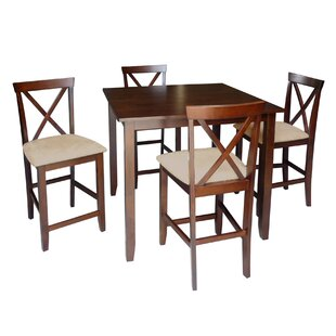 Baxton Studio Natalie 5 Piece Counter Height Dining Set Wholesale Interiors