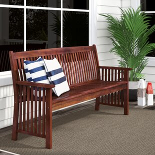 Pine Hills Wood Garden Bench by Beachcrest Home Design
