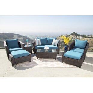 Lemanski 7 Piece Rattan Sunbrella Conversation Set with Cushions by Latitude Run