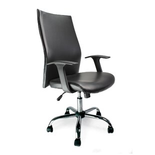 Shirttail High-Back Executive Chair With Lumbar Support By Wade Logan