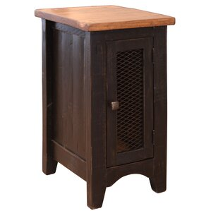 Laguna Niguel Chairside End Table with Storage by Loon Peak