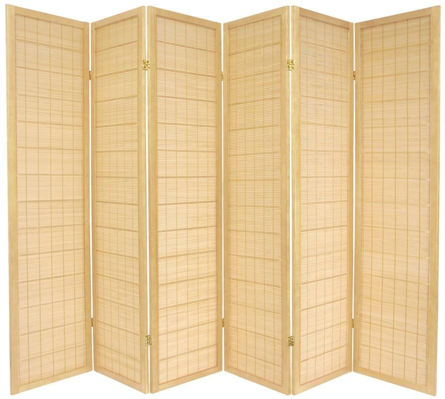 World Menagerie Aria Shoji 6 Panel Room Divider Reviews Wayfair
