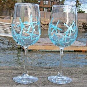 Signature Beach Starfish White Wine Glass (Set of 2)