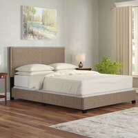 Deals on Adrienne Queen Upholstered Standard Bed