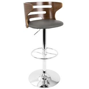 Baehr Adjustable Height Swivel Bar Stool Wade Logan
