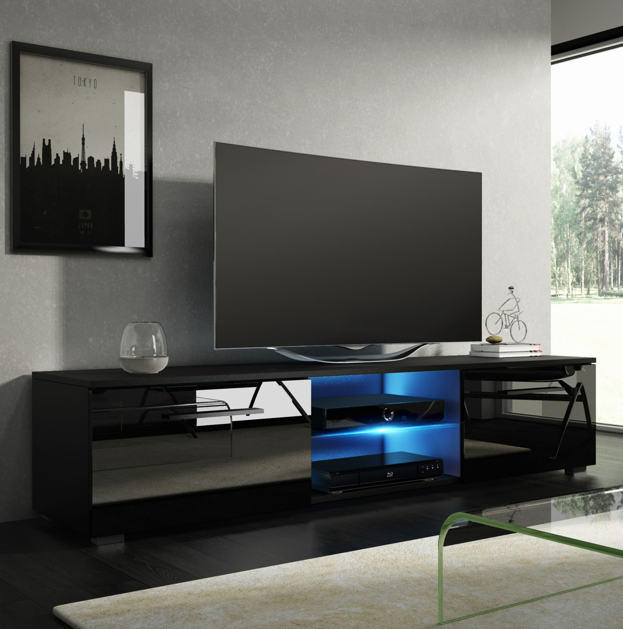 Metro Lane Bayldon Tv Stand For Tvs Up