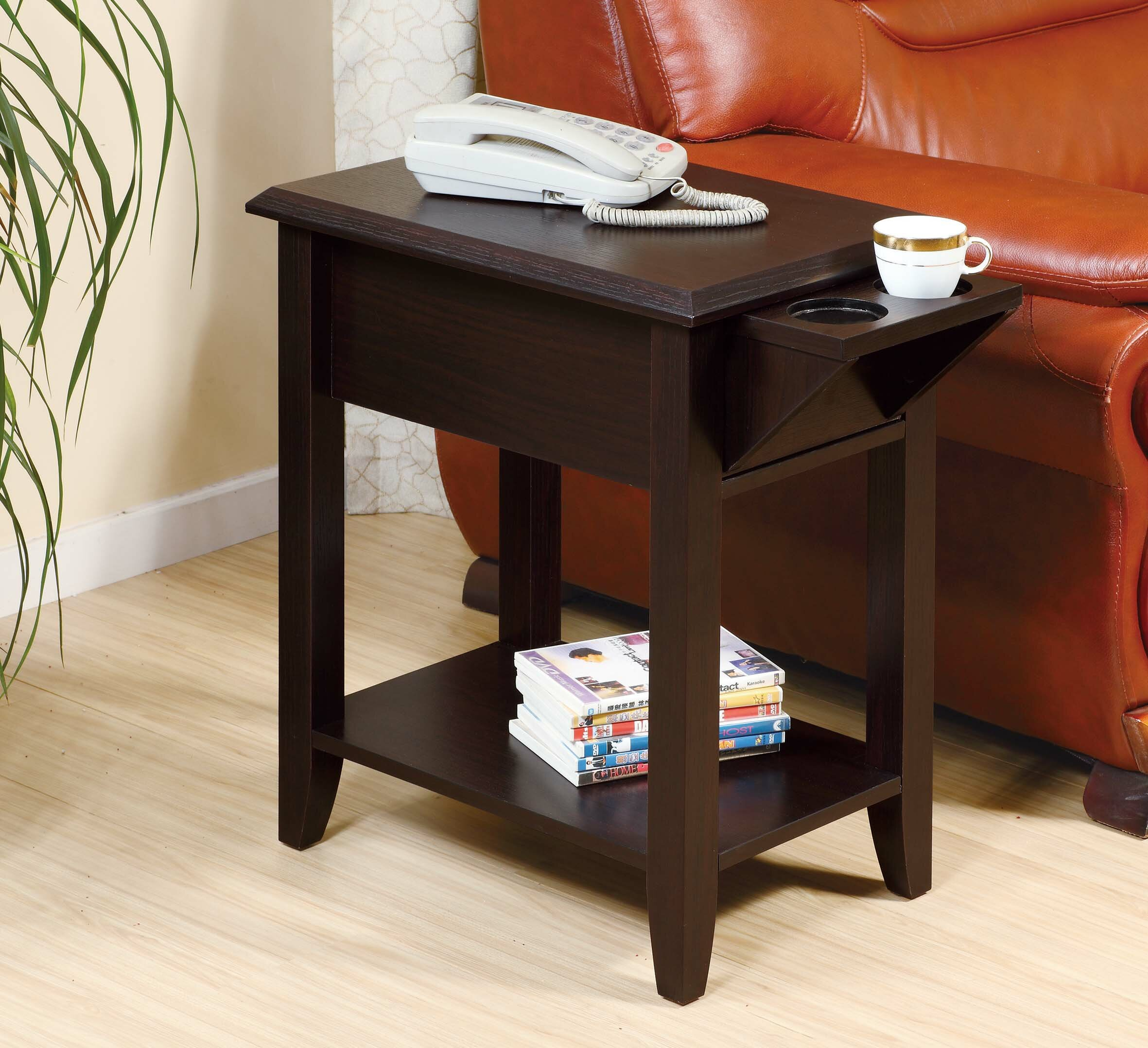 Union Rustic Sikorski End Table With Storage Reviews Wayfair