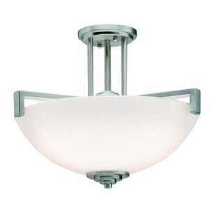Brayden Studio Esmont 3-Light Semi Flush Mount