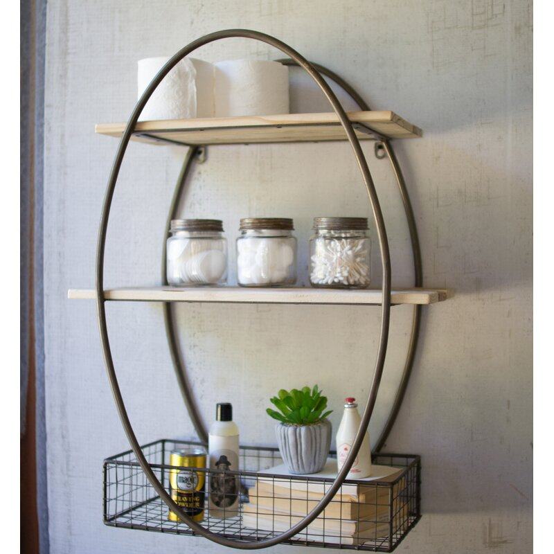 Gracie Oaks Acuna Tall Oval Wall Shelf