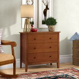 Luciana 3 - Drawer Solid Wood Bachelor's Chest in Brown by Andover Mills™