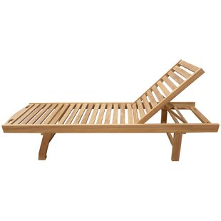 Cosme Pool Reclining Teak Chaise Lounge