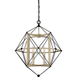 Dovercourt 4-Light Geometric Chandelier by Brayden Studio