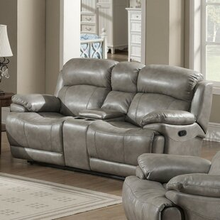 Alcott Hill Castaneda Genuine Leather Reclining Loveseat