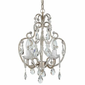 alida 4light crystal chandelier with hooks