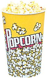 Yellow Popcorn Cups (Set of 25)