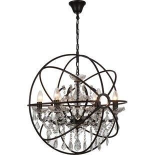 Gracie Oaks Beldin 6-Light Globe Chandelier