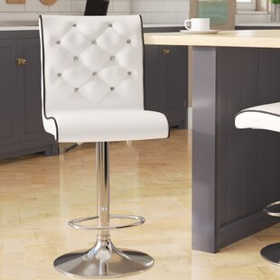 Elkton Adjustable Height Swivel Bar Stool (Set of 2) Wade Logan