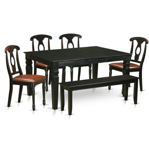 Pennington 6 Piece Wood Dining Set by Beachcrest Home