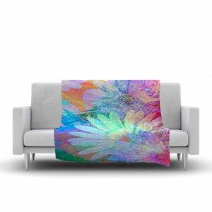 AlyZen Moonshadow Floral Meld Abstract Digital Fleece Throw