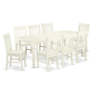 Pimentel 9 Piece Solid Wood Dining Set by..