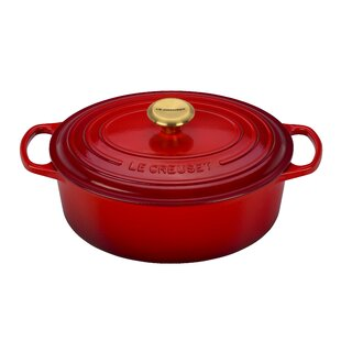 5-qt. Oval Dutch Oven with Gold Knob