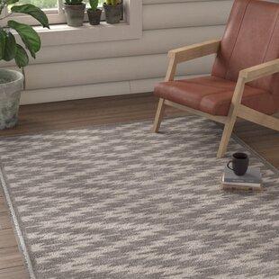 Lucey Gray Indoor/Outdoor Area Rug byUnion Rustic