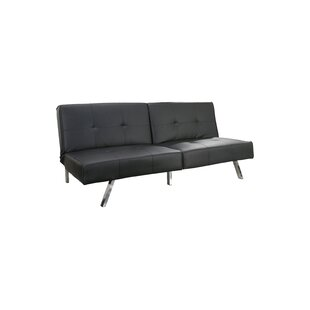 Wade Logan Reily Leatherette Convertible Sofa