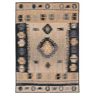 Read Reviews Tseng Reversible Brown/Black Indoor/Outdoor Area Rug By Millwood Pines