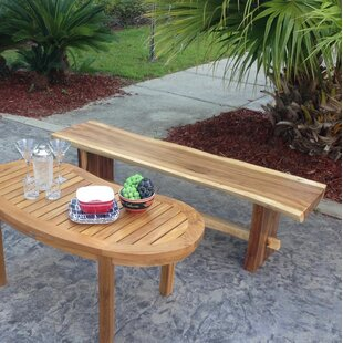 Efren Live Edge Backless Bench by Millwood Pines