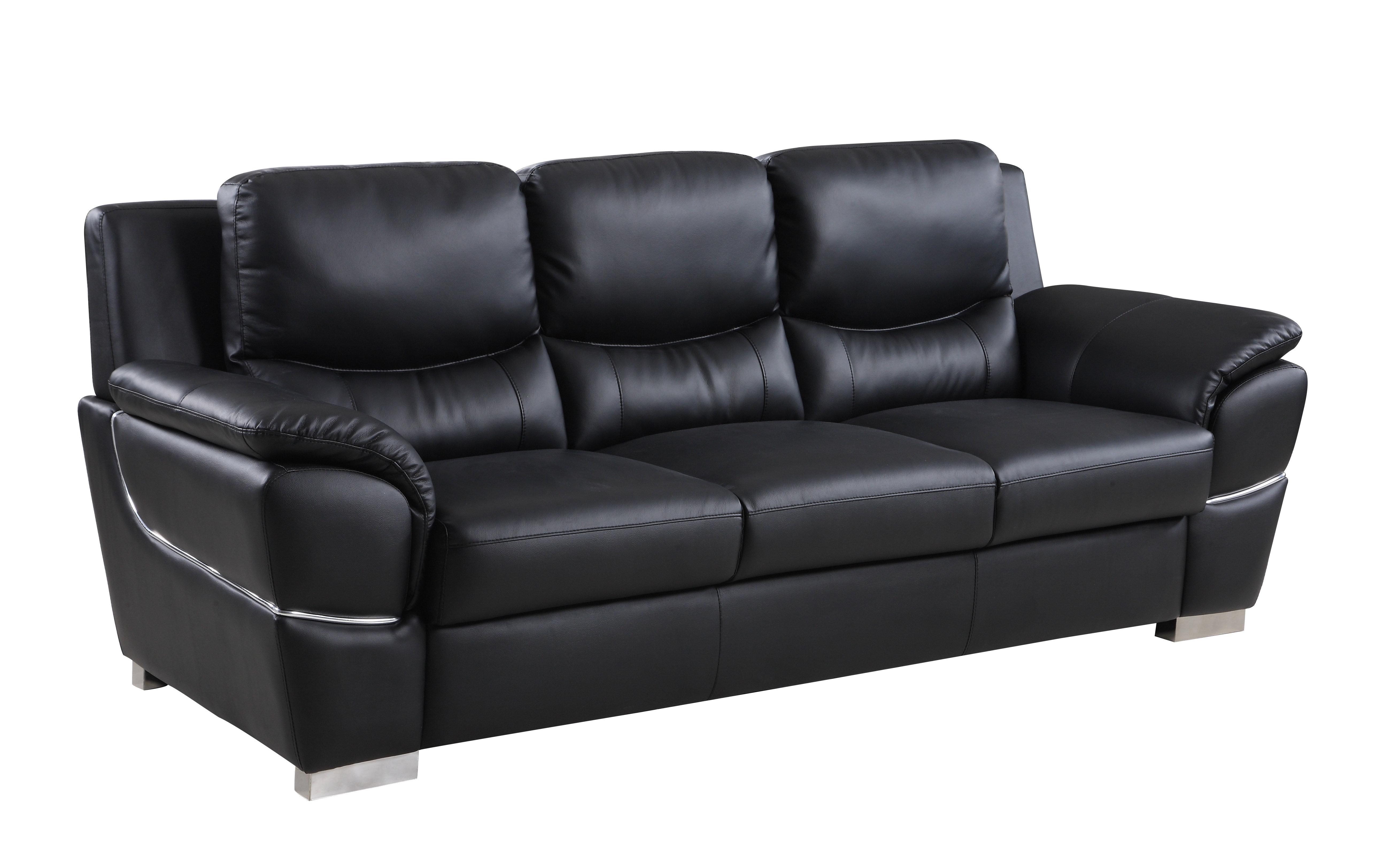 Laude Run Henton Leather Sofa
