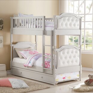 Maryjo Twin Over Twin Bunk Bed With Trundle by Harriet Bee New Design