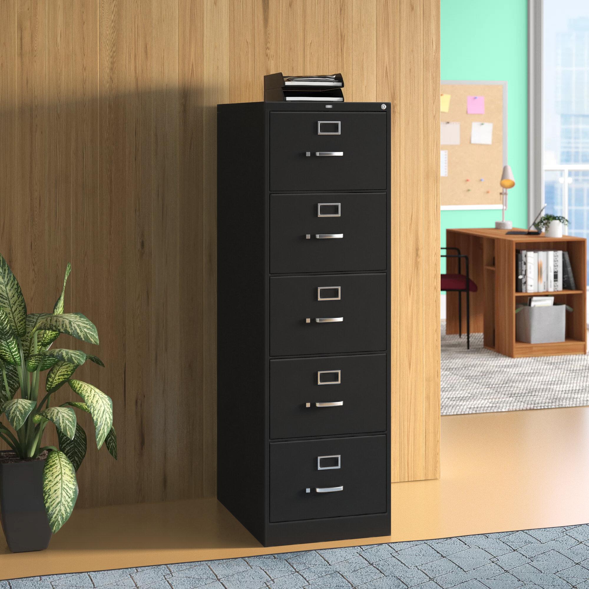 Hon 310 Series 5 Drawer Vertical Filing Cabinet Wayfair