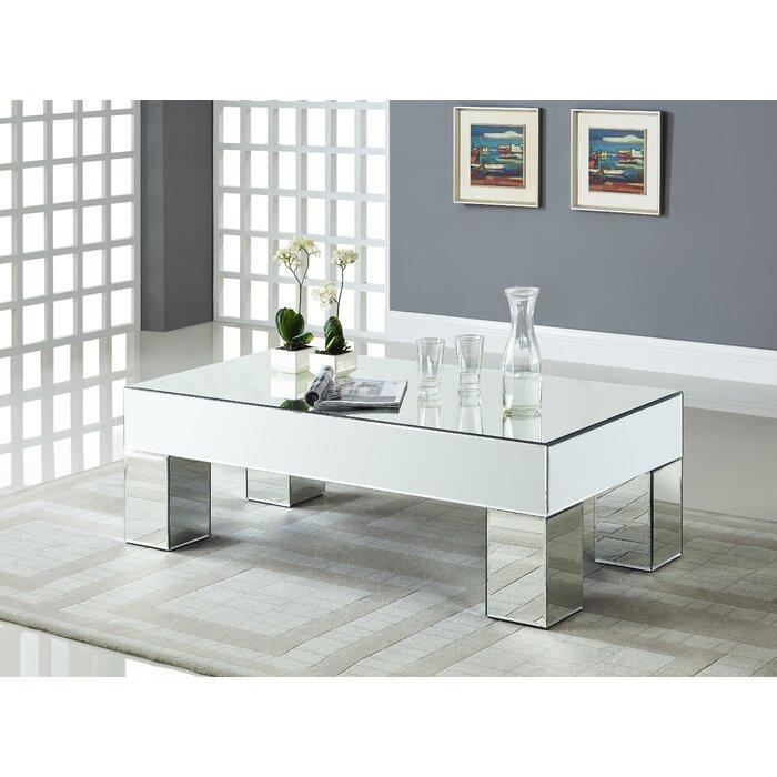 House Of Hampton Nevels Mirrored Coffee Table Reviews Wayfair Ca