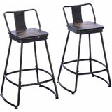 Kaleb Bar & Counter Swivel Stool (Set of 2) by Williston Forge