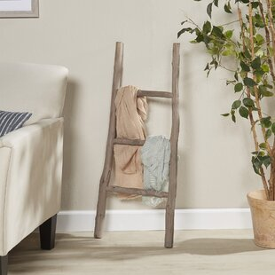 Wood White Washed 3.5 ft Blanket Ladder by August Grove