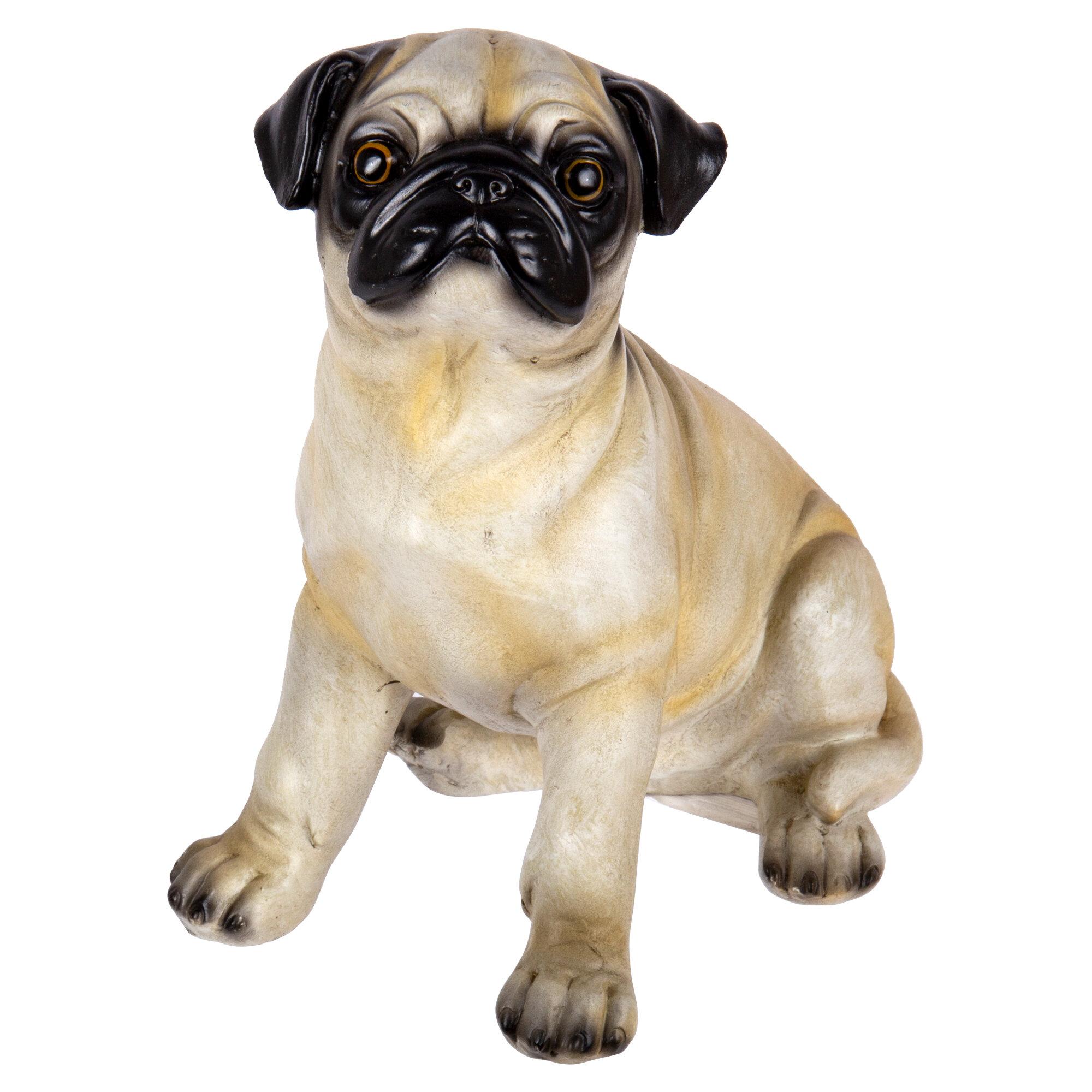 Winston Porter Judkins Sitting Pug Dog Figurine Wayfair