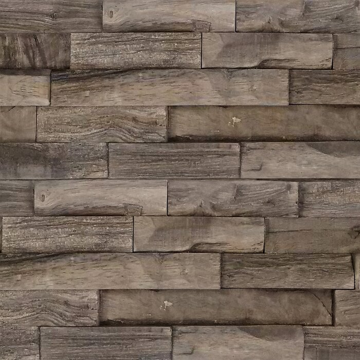"Aja 5.87"" x 24"" Solid Wood Wall Paneling"