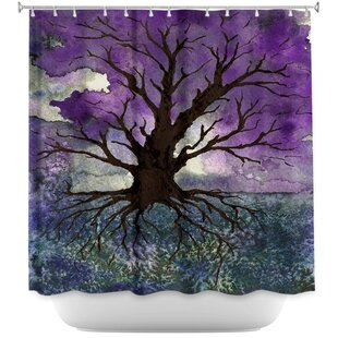 Tree Of Life Single Shower Curtain by East Urban Home Find