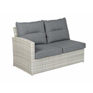 Cheap Price Crewe 2 Piece Garden Sofa Set With Cushions (Set Of 2)