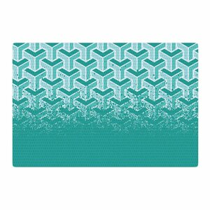 Just L No Yard Urban White/Teal Area Rug