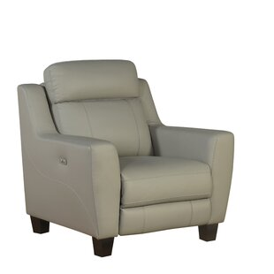 Florham Leather Power Recliner by Latitude Run