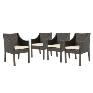 Mchugh Wicker Patio Dining Chair with Cushions