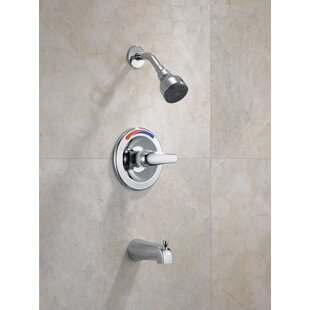 Peerless Faucets Core Pressure Balance Tub and Shower Trim with Single Lever Handle